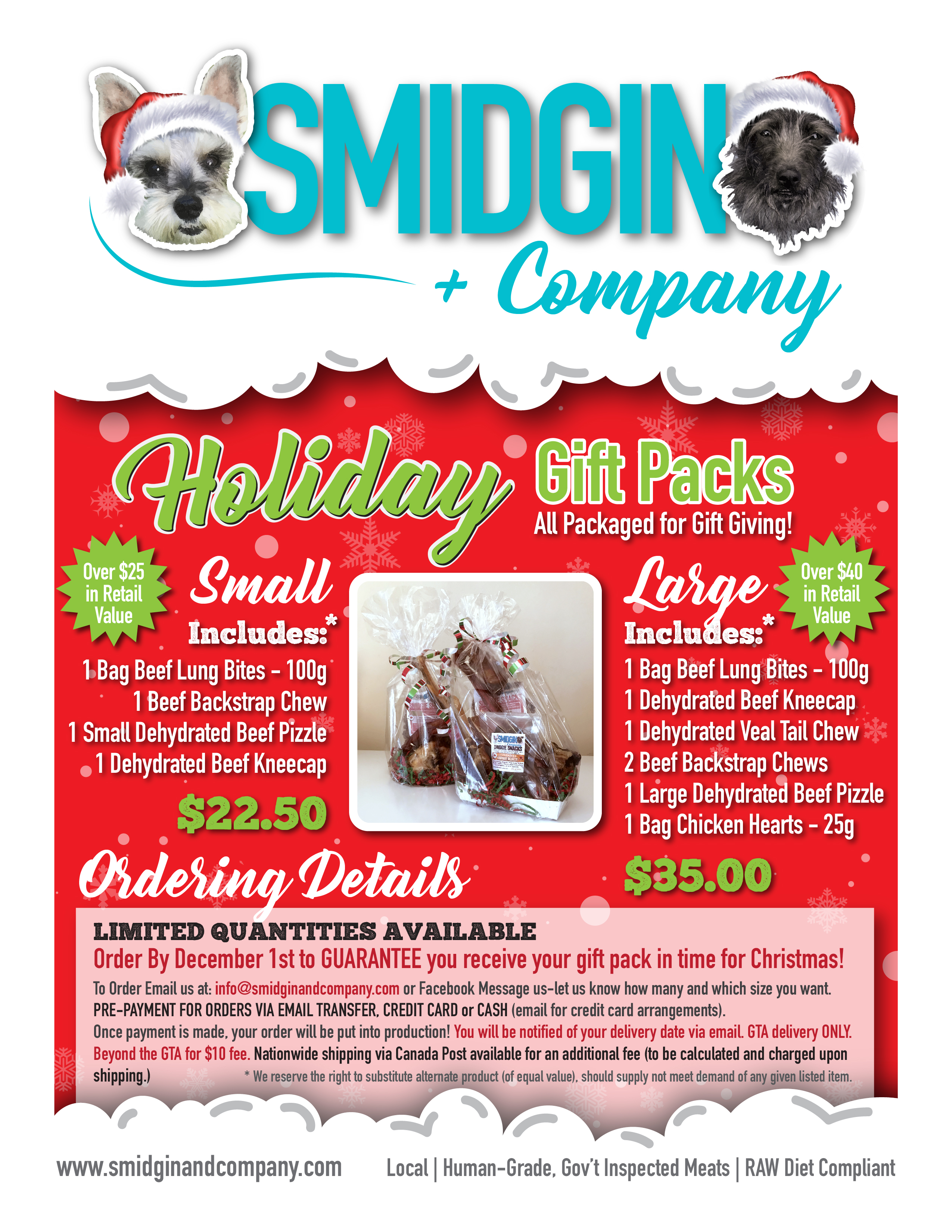 Holiday Gift Pack Flyer - Retail
