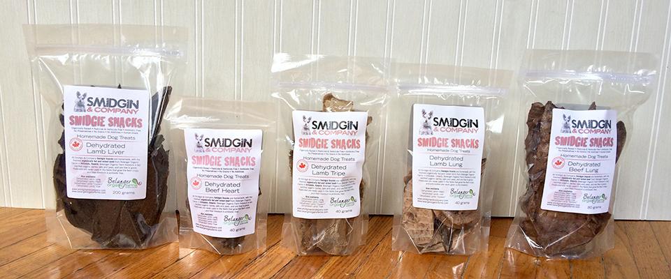 Smidgie Snacks - Dehydrated dog treats